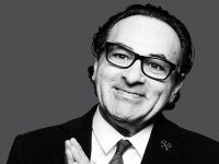 Sunset Tower's maître d' Dimitri Dimitrov in conversation with Tom Ford