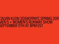 See the full action of CALVIN KLEIN 205W39NYC Spring 2019 Men's and Women's collection live