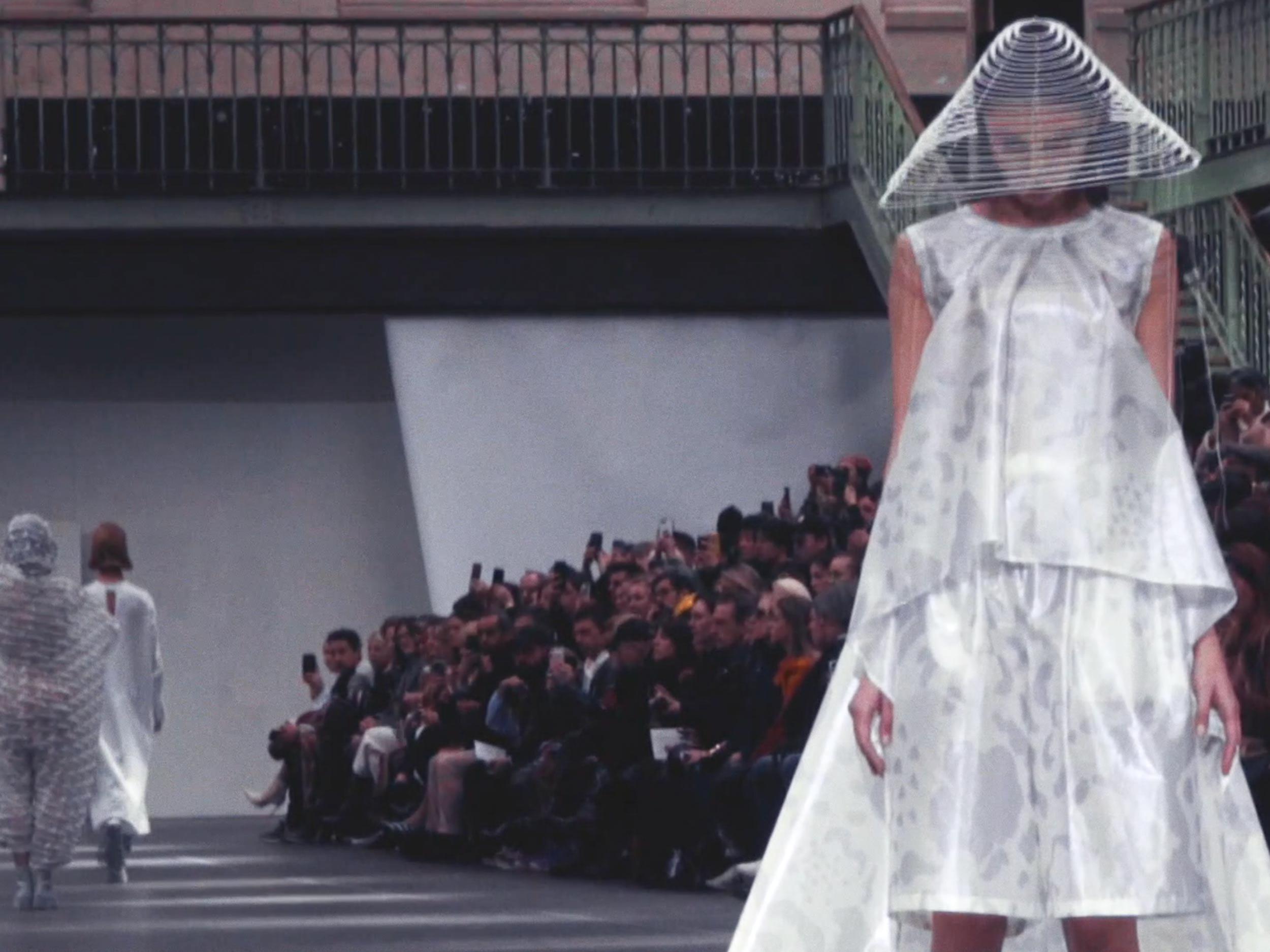 See Issey Miyake's future geometries in motion