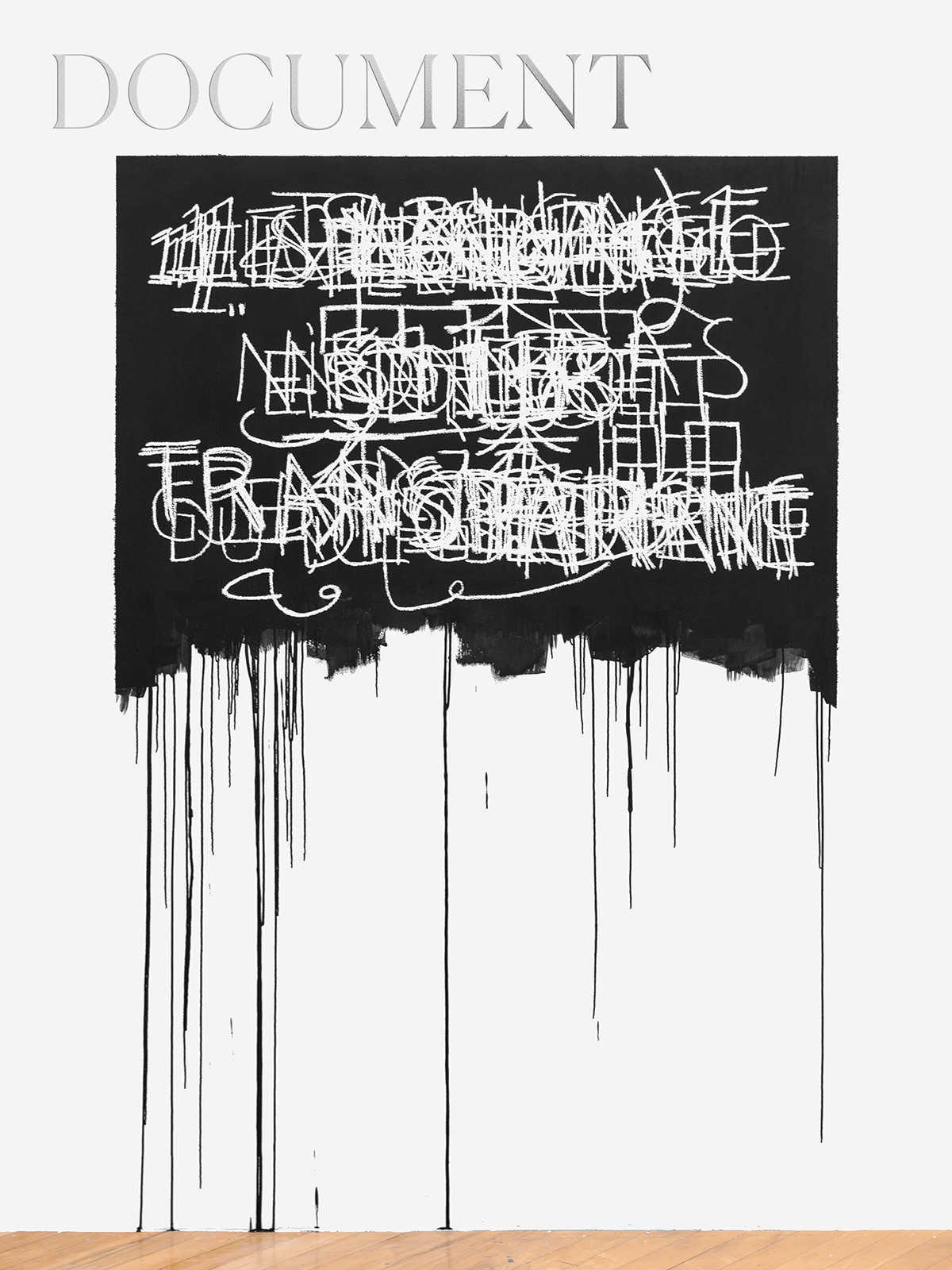 Artist Mel Bochner obscures words to reveal their dangerous potential
