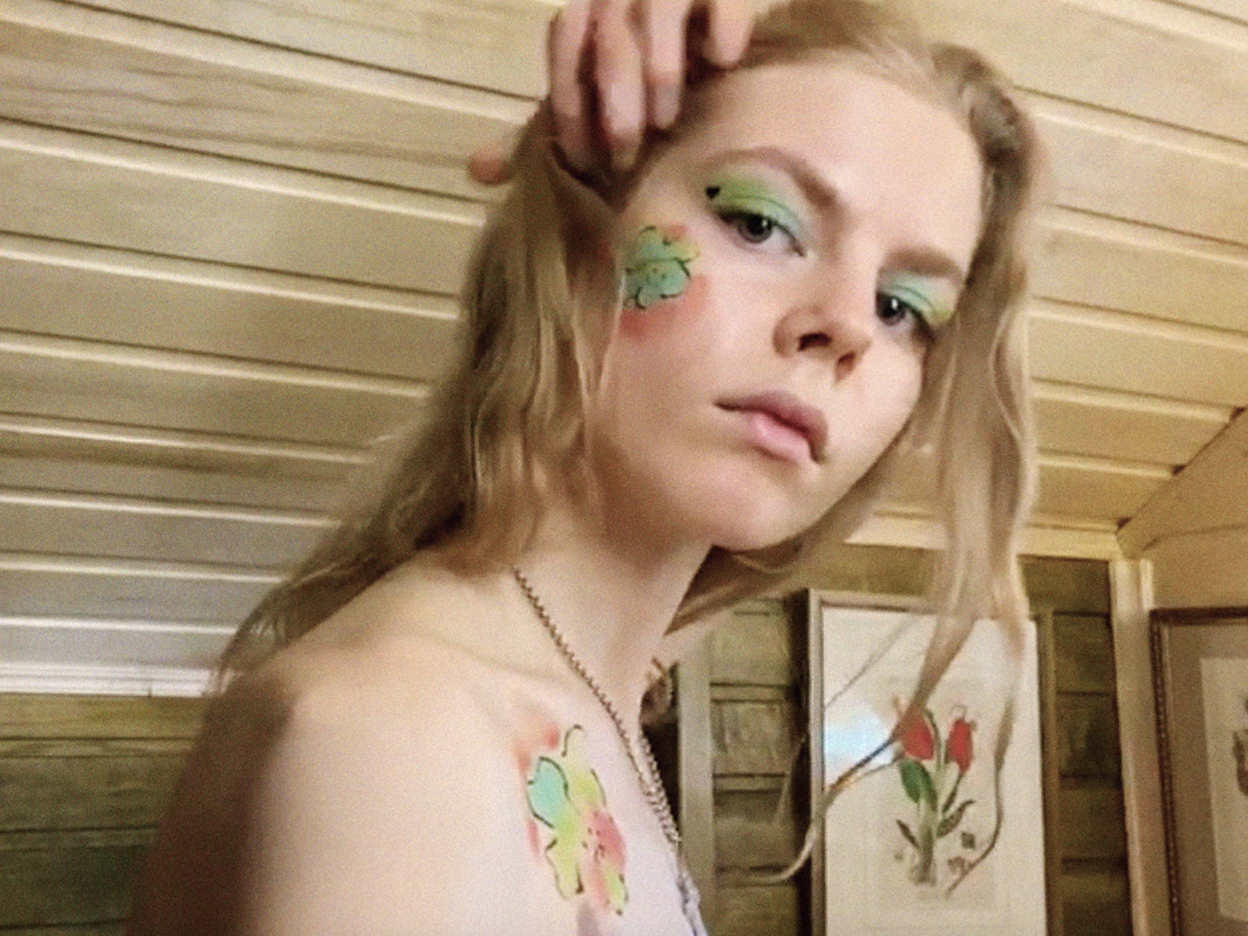 Jolie Alien transforms into a Veruschka-inspired, quarantined wood nymph