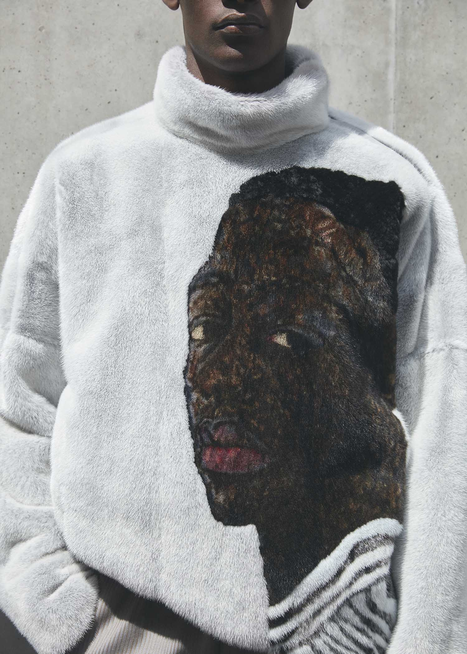 Kim Jones translates Amoako Boafo's paintings into wearable art