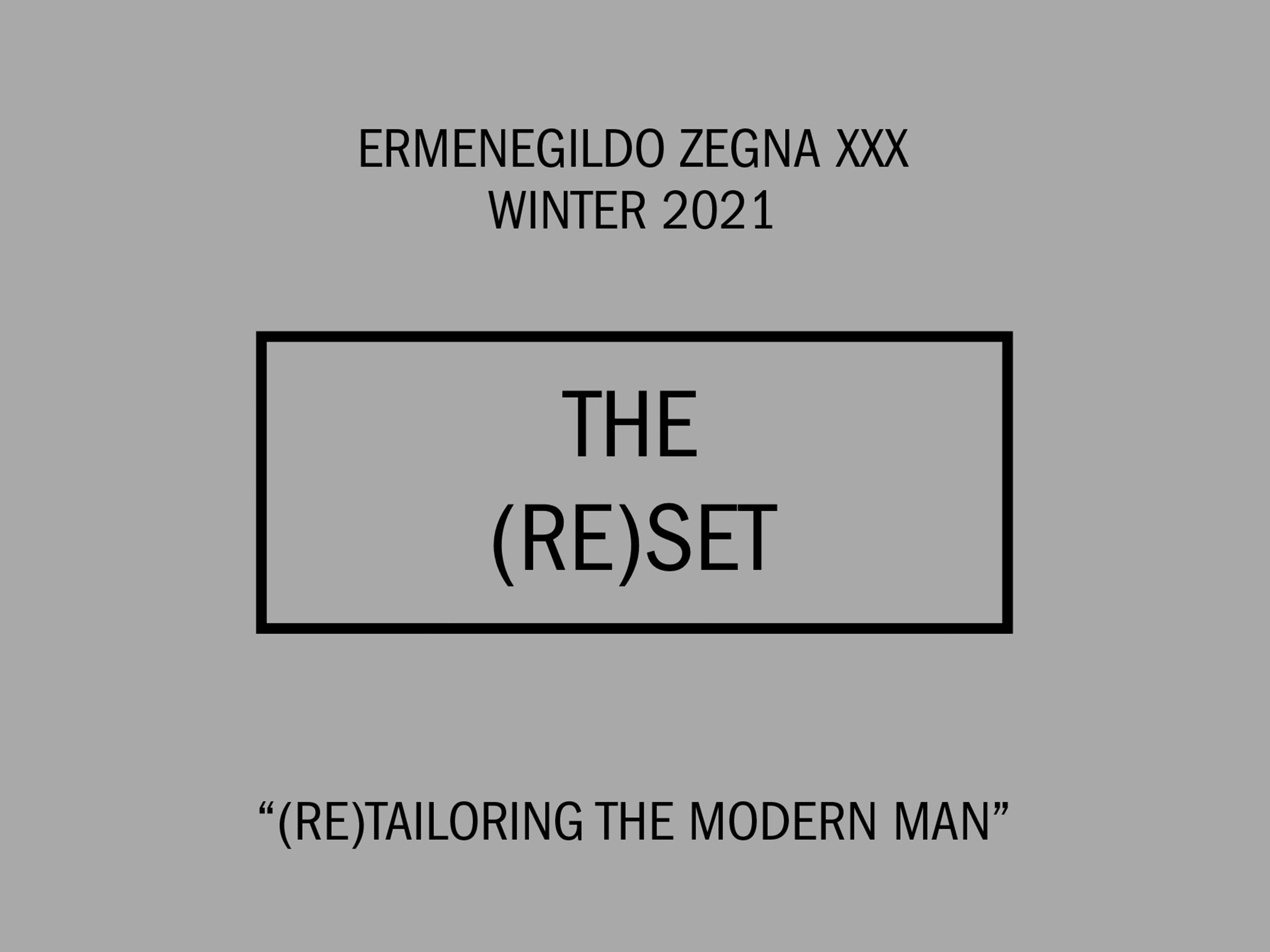 Livestream Ermenegildo Zegna XXX's Fall/Winter 2021 collection here