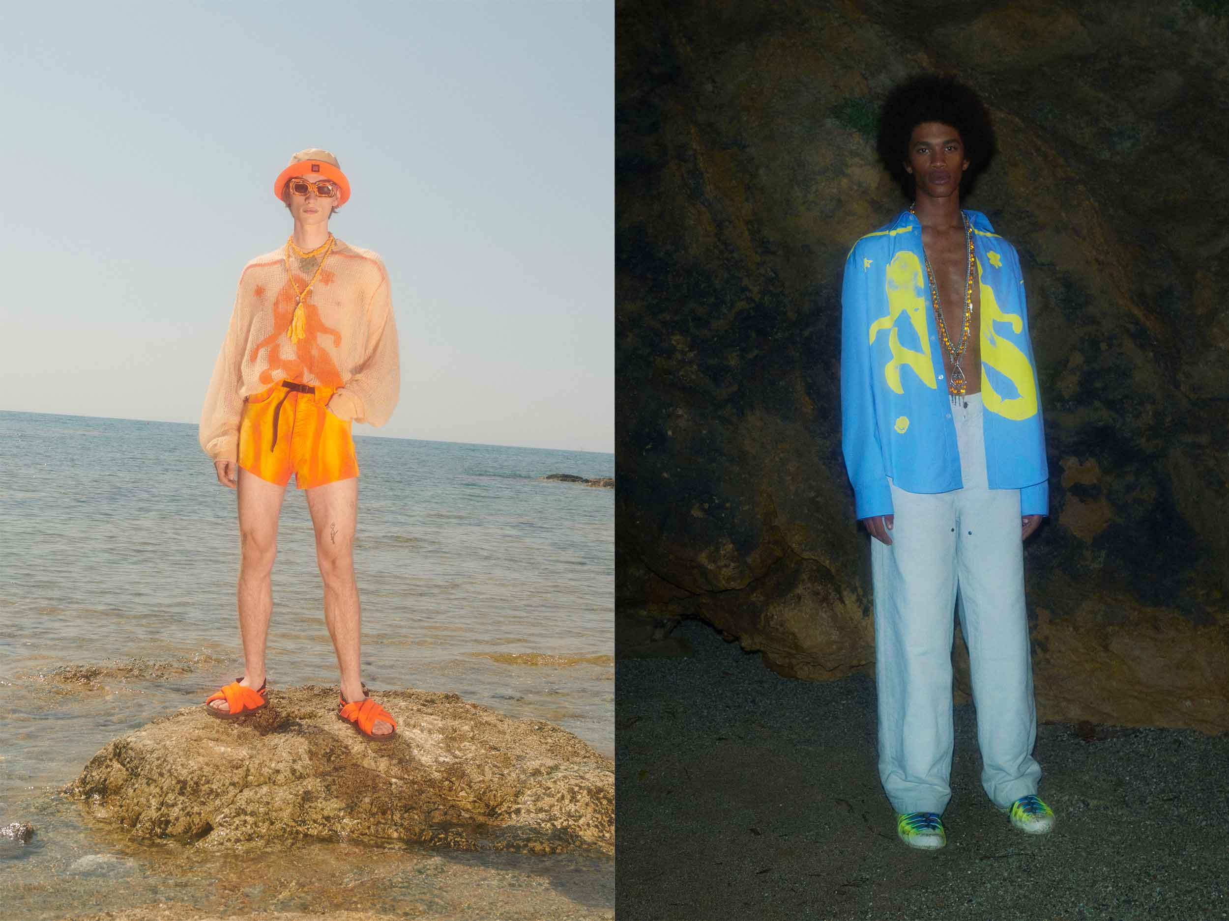 MSGM brings men's streetwear to the beach for Spring 2022
