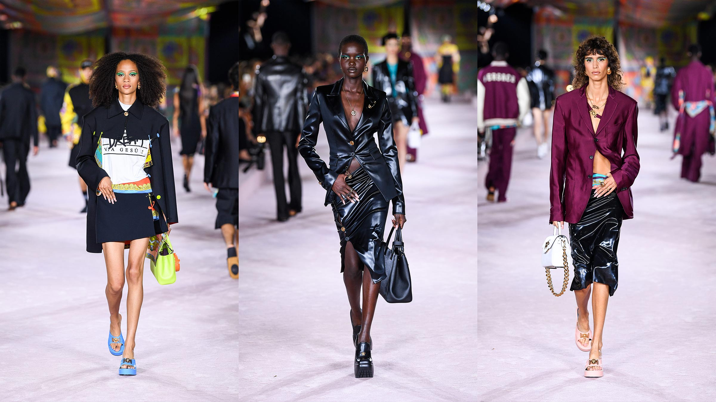 Versace's Spring/Summer 2022 collection puts the iconic 'foulard' back in the spotlight